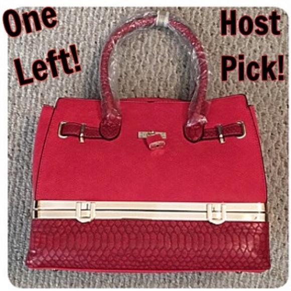 Boutique Handbags - Storage Compartment Faux Leather Satchel Purse New